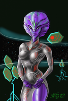 lonely in space by Grrriva