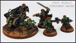Grot Rebelz Kommand Squad by Proiteus