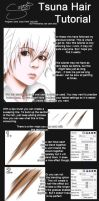 SAI - Tsuna Hair Tutorial by Sazzy-Bu