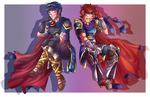 Marth and Roy by xmoonlitxdreamx