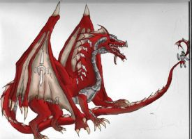 ghost010's Dragon Coloured by riandro