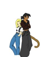 Request: Mike and Android 18 by eazybreeze