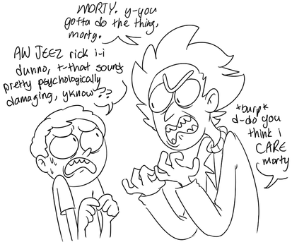 ricknmorty by stopthatrightnow