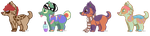 CHIBI UNSOLD ADOPTABLES - OPEN, 1 LEFT by wesleydog