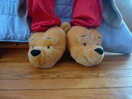 Pooh head slippers by ExileLink