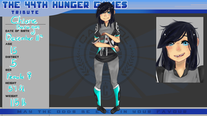 44th Hunger Games Application: Chione Baragon by Boochio
