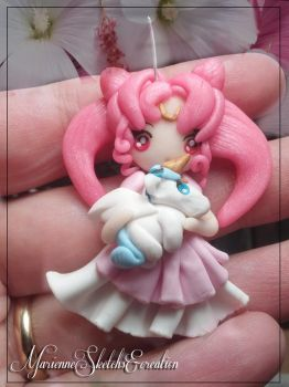 Princess Chibiusa and Stuffed Pegasus by DarkettinaMarienne
