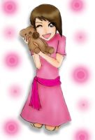 Pink and Teddy by adhwa
