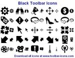 Black Toolbar Icons by Iconoman