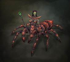 spider queen by lincochuan