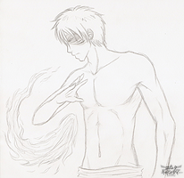 Fire Bending Zuko Sketch by LinkIsMine