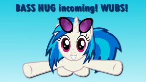 Wallpaper Vinyl Scratch Bass HUG incoming! by Barrfind
