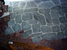 Flagstone Floorcloth stock by ESTilton