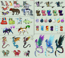 Lots of point adopts! OPEN! by Aqua-Adopts22