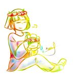 Frisk and Flowey: Flower Crowns by Naokiiii