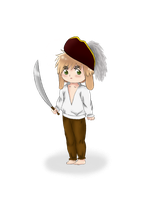 Chibi Pirate Bunny England by Mayu-96