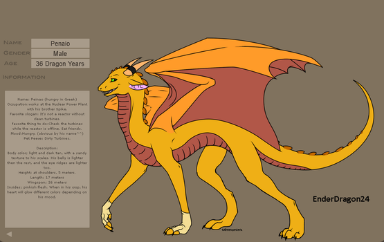 Penaio Reference Sheet by EnderDragon24