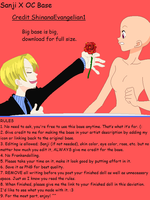 Sanji X OC Base by ShinanaEvangelian1