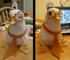 My Hatoful Plushie WIP by KasaraWolf