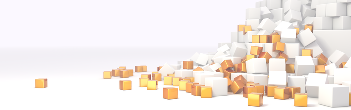 Cube Pile by BordomBeThyName