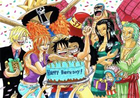 Happy Birthday Luffy by heivais