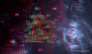 In Distant Space Anaglyph_V2 3D Stereoscopy by Osipenkov