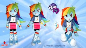 Equestria Girls - Rainbow Dash - Plush Doll by Lavim