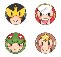 Robot Master Buttons 1 by PapillonthePirate