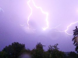Intense Lightning by irrationalrationale