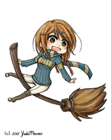.:Ashland- Ravenclaw Quidditch Chibi:. by YuukiMONSTER