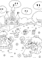 paper mario lineart by marshie-chan