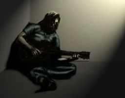 Lonesome Guitar Man - colored by daysleeper81
