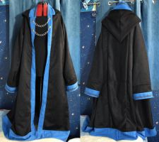 Blue and Black Oversize Wizard Robes by SerenFey