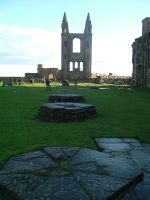 St Andrews Cathedral, graves by FireFlyExposed