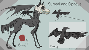 Surreal and Opaque Character Reference by Clockwork-Shadow