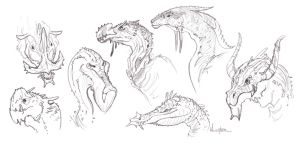 Creature sketches by MiryxG