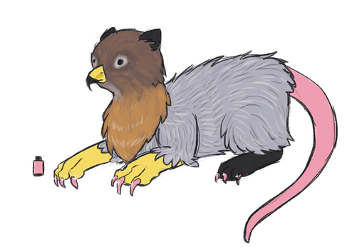 Combining two different animals - Hawk + Opossum by Chipflake