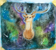 3-Eyed Space Stag by BeanSproutMomo