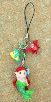 Ariel cell phone charm 2 by mayumi-loves-sora
