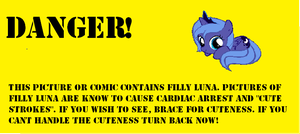 Filly Luna Warning by Soul-Soother
