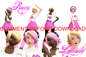 [Homestuck Newcomer] Roxy Lalonde [MMD DOWNLOAD] by UfufuChan
