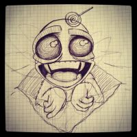 My Sketch for the challenge: Cute Monsters by PhantomxLord
