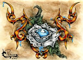 Tattoo Tribal: Black Rose by evilorchid