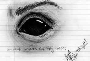 Demon Eye Sketch by Phobic42