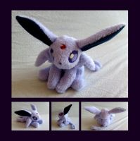 Espeon Floppy Plush by Lighiting-Dragon