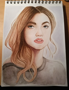 watercolor portrait by TheAngelCookie