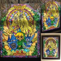 The Legend of Zelda: Windwaker Faux Stained Glass by Xaveric