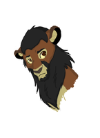 Derek Morgan Lion by DarkNinjaPoptart
