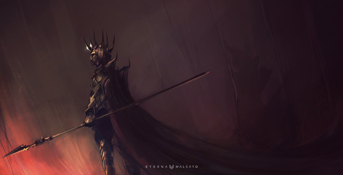 Melkor, early concept by FoxInShadow