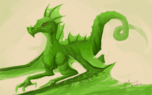 Green Dragon by BunnyFroofroo